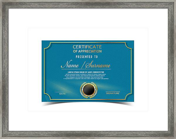 creative certificate template for completion award with golden