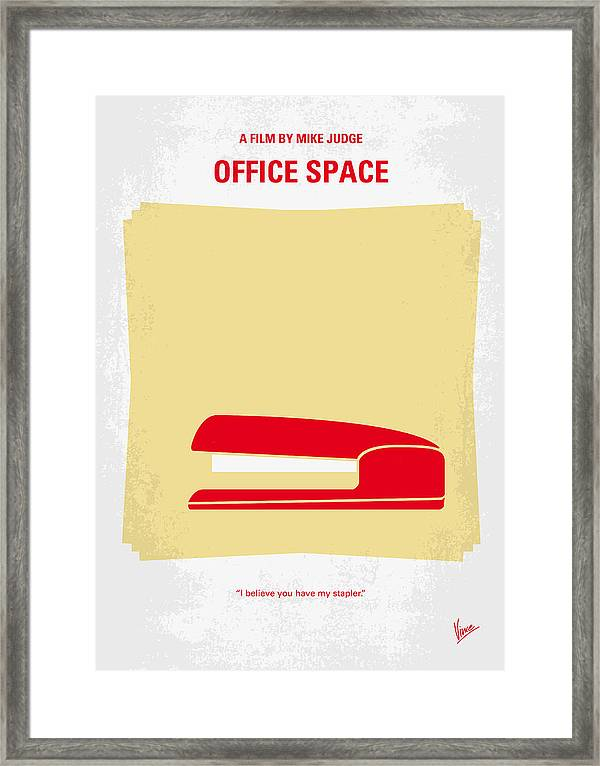 No255 My Office Space Minimal Movie Poster Framed Print by Chungkong Art