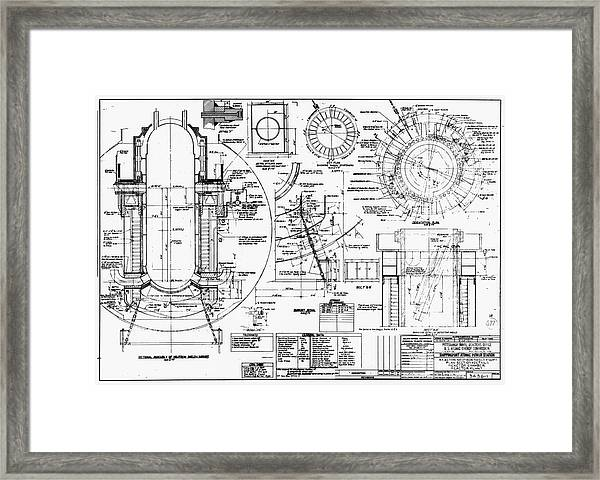Nuclear Power Plant Components, Diagram Framed Print by Library Of