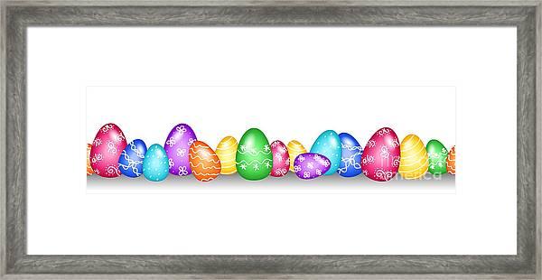 Seamless Easter Egg Border Framed Print by Sylvie Bouchard
