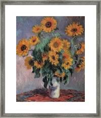 Sunflowers Framed Print by Claude Monet