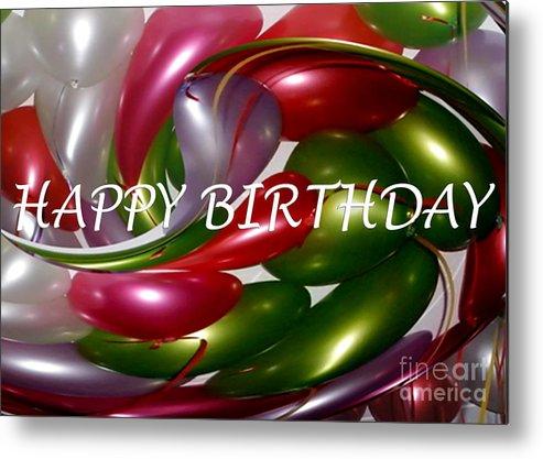 Happy Birthday - Balloons Metal Print by Kaye Menner