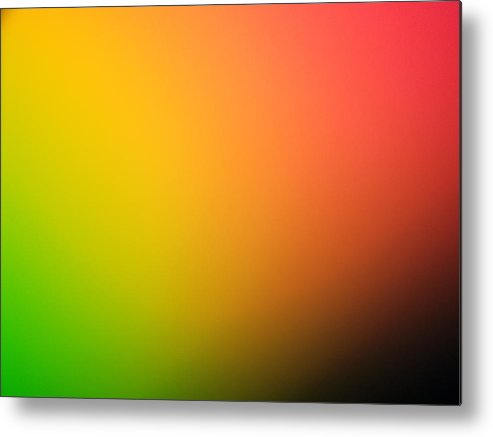 Color Gradient In Green, Yellow And Red Metal Print by Greg Sawyer
