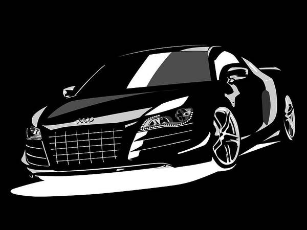 Audi R8 Posters Fine Art America - best of blueprint drawings of audi r8