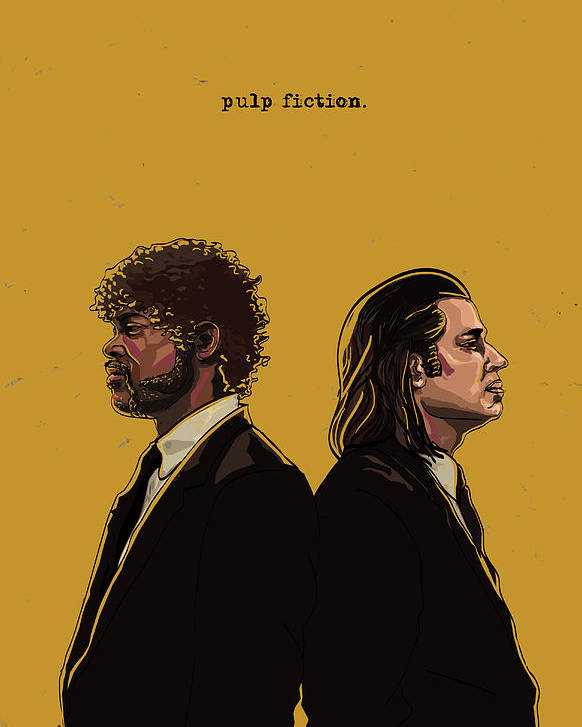 Iphone X Frame Wallpaper Pulp Fiction Poster By Jeremy Scott