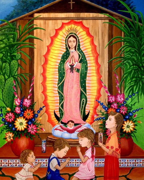 Virgen De Guadalupe #3 Poster by Evangelina Portillo