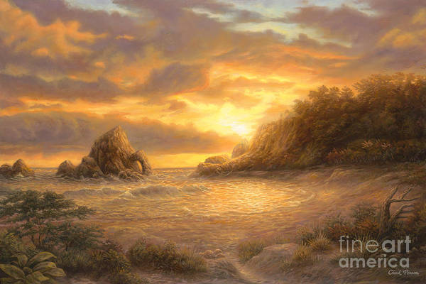 Iphone X Inside Wallpaper Hd Coastal Sunset Art Print By Chuck Pinson