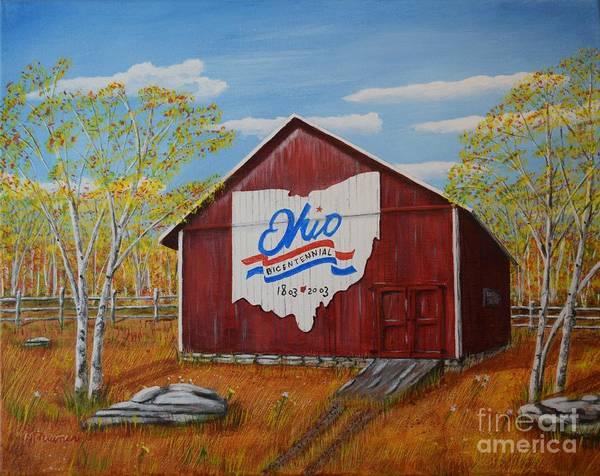 Iphone X Frame Wallpaper Ohio Bicentennial Barns 22 Art Print By Melvin Turner