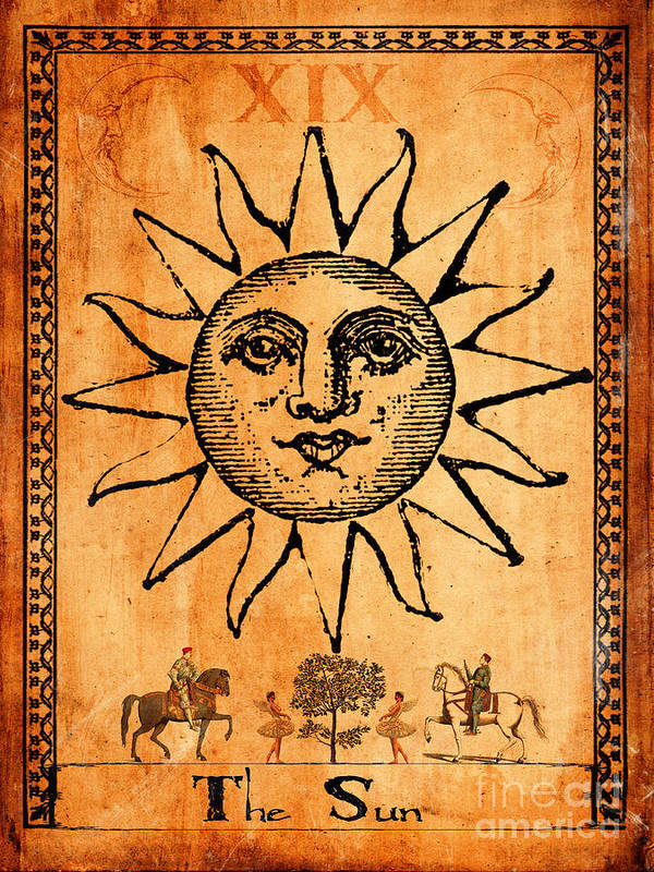 Iphone 5 Wallpaper Dimensions Tarot Card The Sun Art Print By Cinema Photography