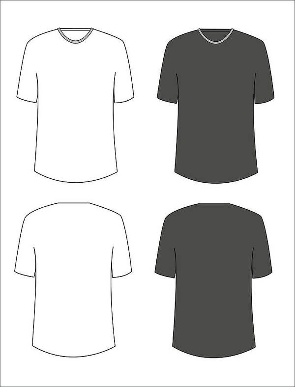Apparel Shirts Template T-shirt Templates Art Print by Tumdee
