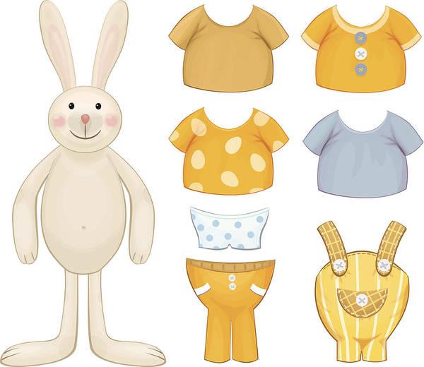 Dress Up Bunny Template Art Print by Rvika