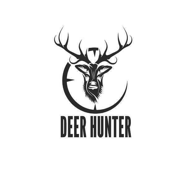 Deer Hunter Vector Design Template Art Print by UVAconcept