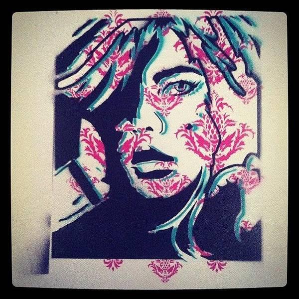stencil #spraypaint #girl #ironlak Art Print by Daniel Kalisperis