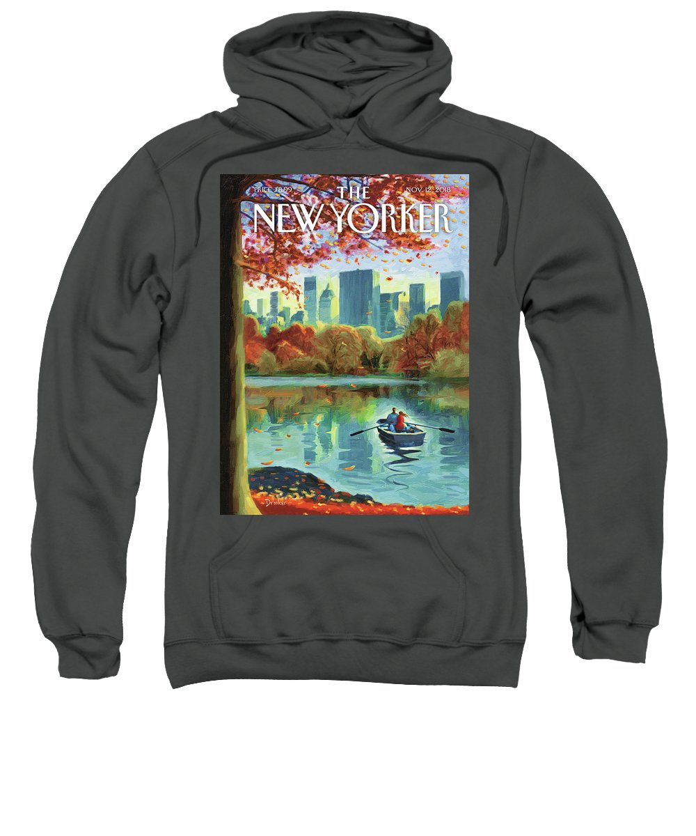 Art Of Eric Drooker Autumn Central Park Sweatshirt