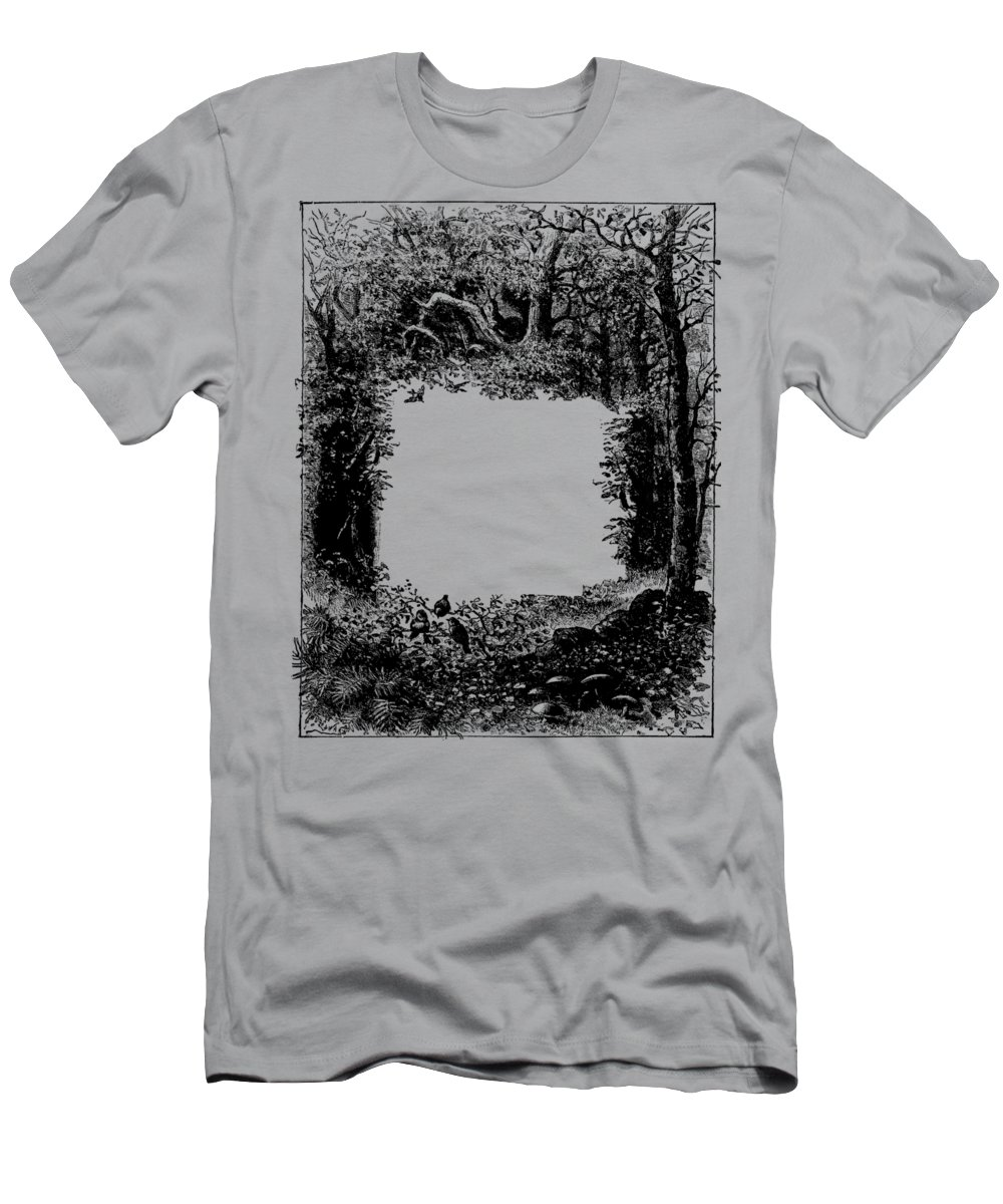T Shirt Frame Forest Frame Dictionaryart Trees Ink Artwork Men S T Shirt Athletic Fit