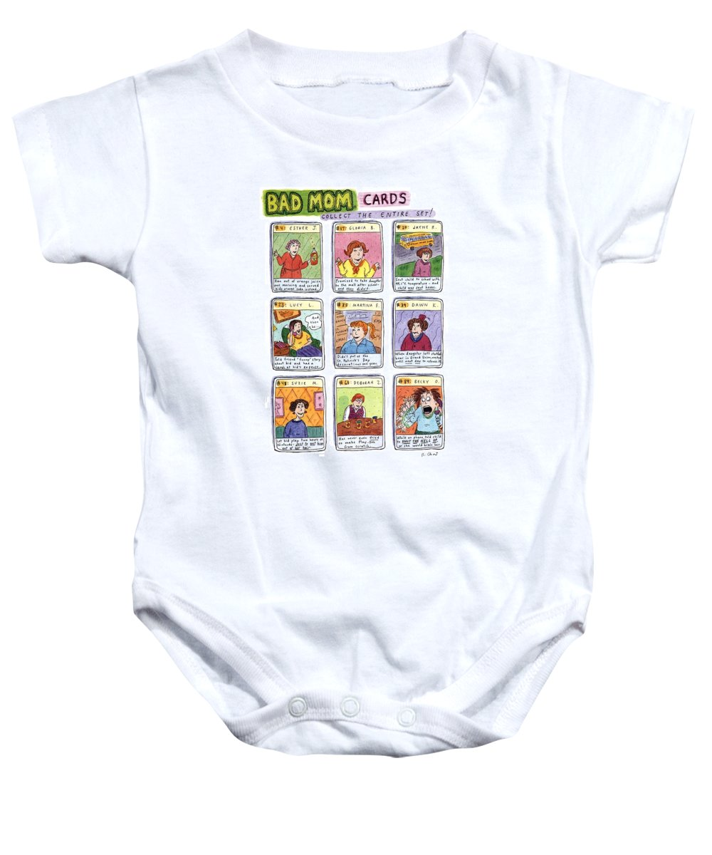 Bad Set For Baby Bad Mom Cards Collect The Whole Set Onesie For Sale By Roz Chast