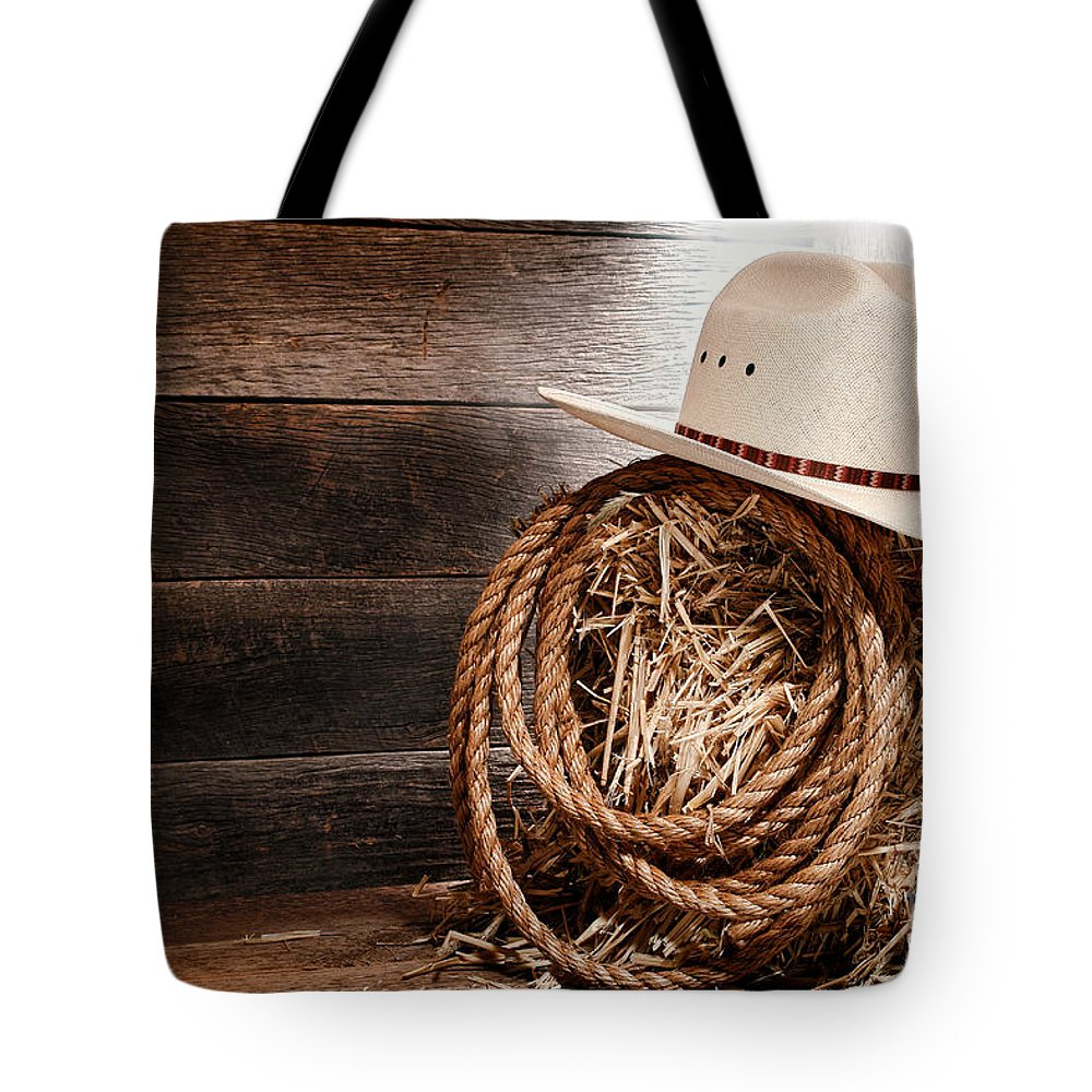 Enamour Western Tote Bag Featuring Photograph Cowboy Hat On Hay Bale By Olivierle Queinec Cowboy Hat On Hay Bale Tote Bag Sale Near Me Sale By Olivier Le Queinec Straw Bales Sale Colorado Straw Bales houzz-02 Straw Bales For Sale