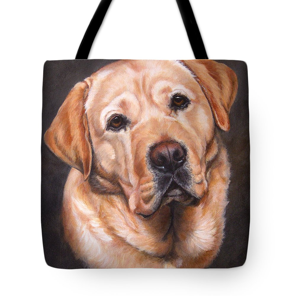 Yellow Lab Dogs For Sale Yellow Labrador Portrait Dark Yellow Dog Tote Bag