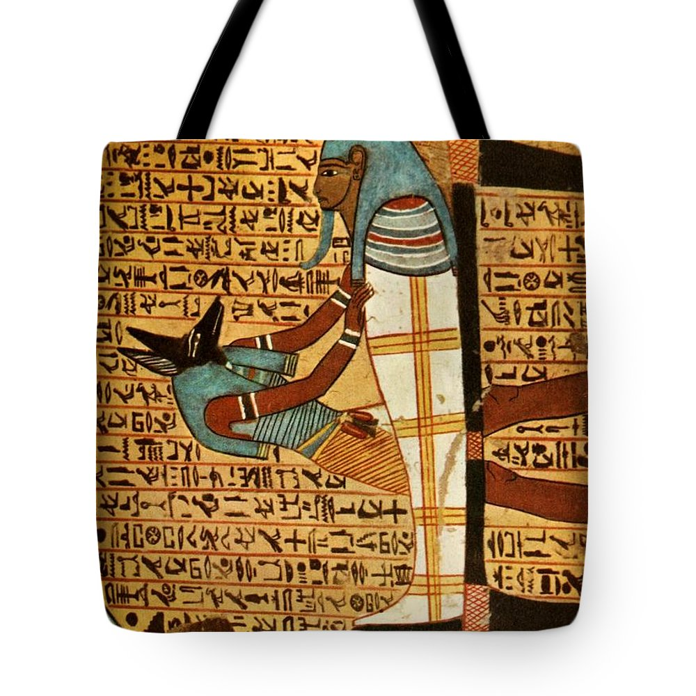 Wall Paintings For Sale Ancient Egyptian Wall Paintings 1956 Tomb Of Amennakht Tote Bag