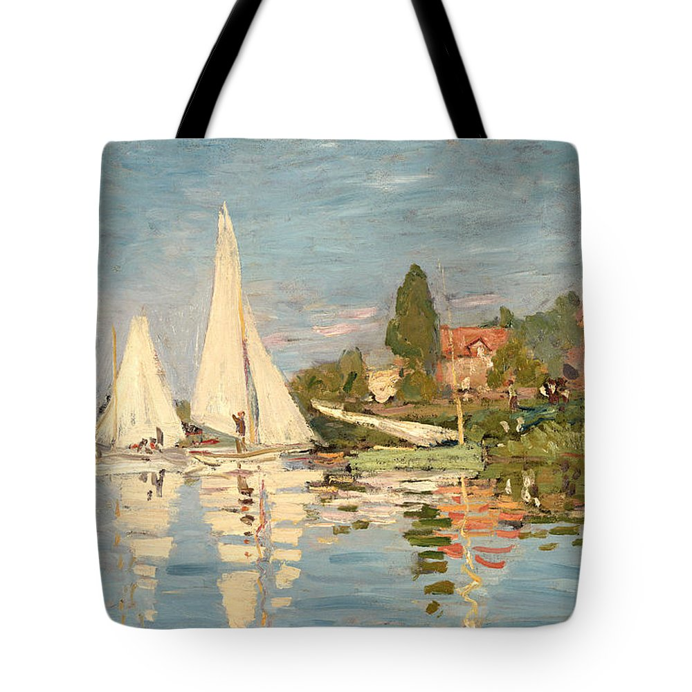 Photo Argenteuil Regatta At Argenteuil Tote Bag