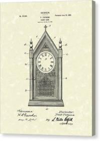 Clock Case Design 1902 Patent Art Drawing by Prior Art Design