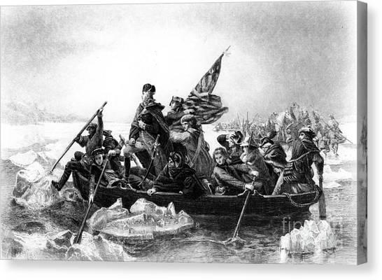 Washington Crossing The Delaware Canvas Prints Fine Art America