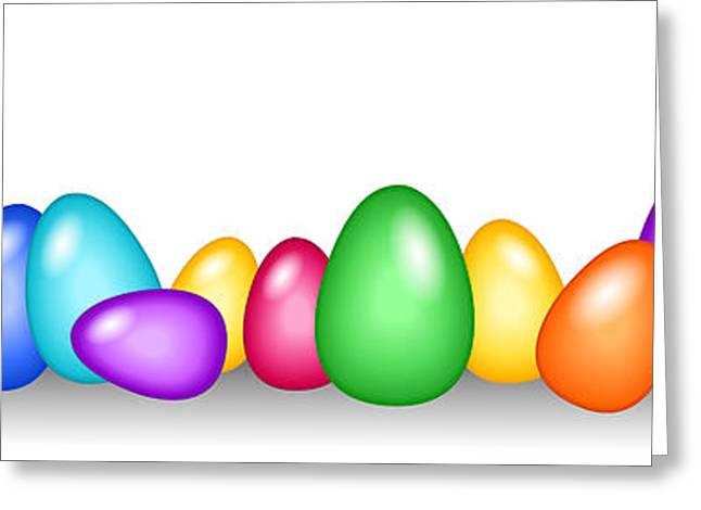 Seamless Colorful Easter Egg Border Digital Art by Sylvie Bouchard