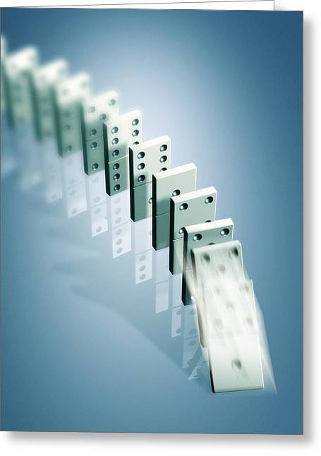 Domino Effect Photograph by Pasieka