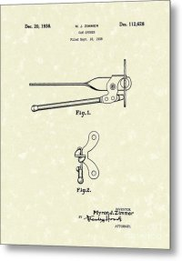 Can Opener 1938 Patent Art Drawing by Prior Art Design