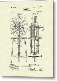 Windmill 1899 Patent Art Drawing by Prior Art Design