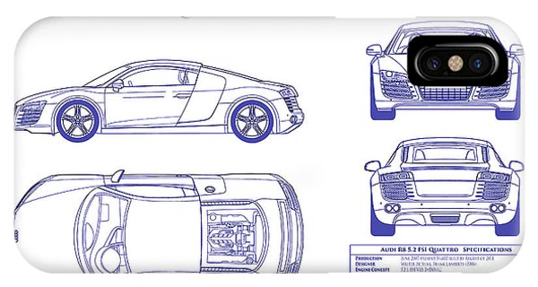 Audi iPhone Cases Fine Art America - best of blueprint drawings of audi r8