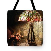 Stained Glass Lamp And Vase Of Flowers Photograph by Susan ...