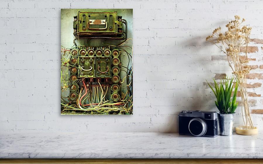 Vintage Household Fuse Box Metal Print by Michael Eingle