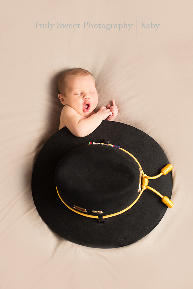 Army Cavalry Hat Newborn Photo