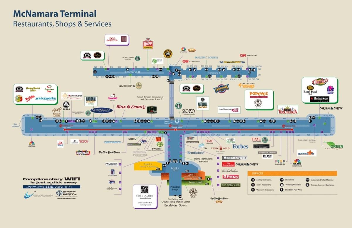 Restaurant choices dtw airport delta points renés