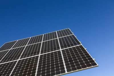 Solar panel photo from Shutterstock