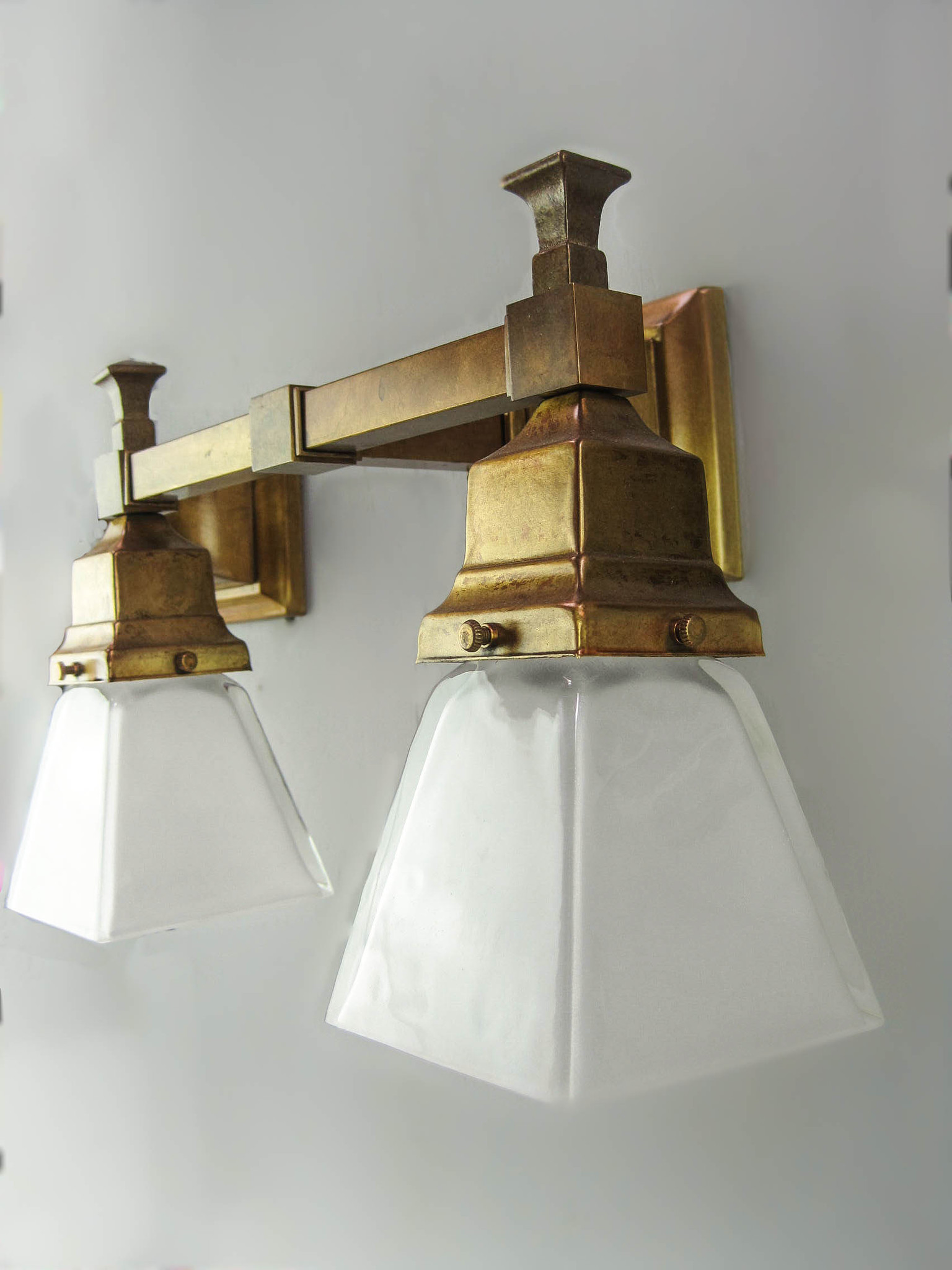 Office Wall Sconces Arts Crafts Mission Wall Sconce Double