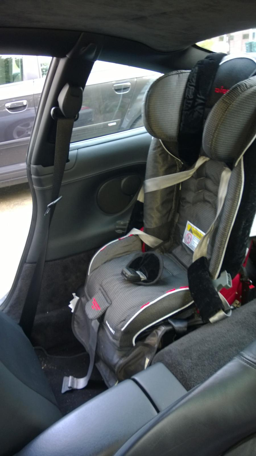 Baby Car Seat In A Taxi Forward Facing Rear Mounted Child Seat For My 2 Year Old