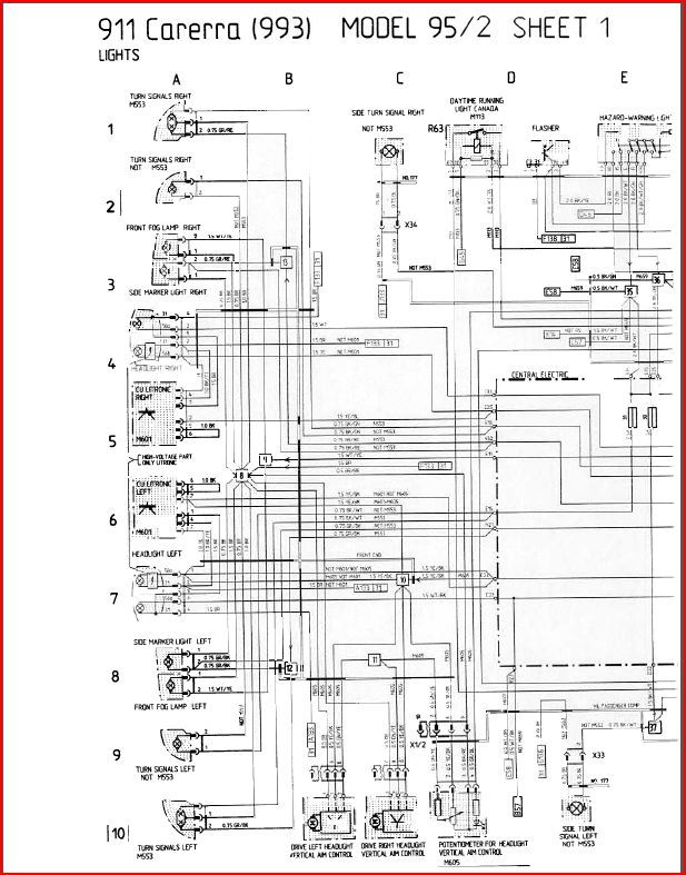 porsche 993 radio wiring diagram