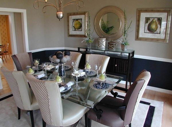 Rug Under Kitchen Table Dining Room Chair Rail Ideas | Renocompare