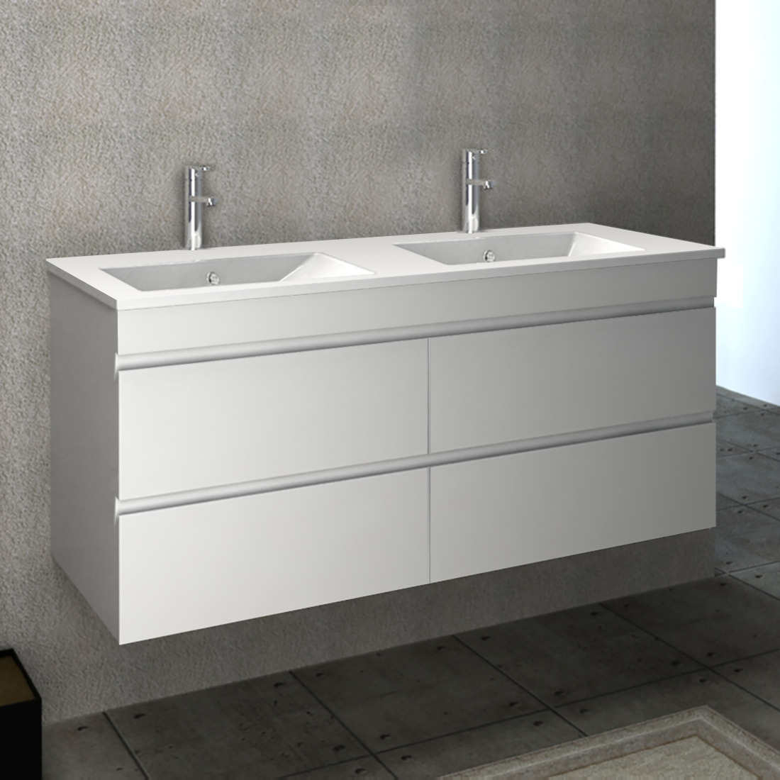 1500 Bathroom Vanity Vellena Wall Hung 1500 Pvc Water Proof Bathroom Vanity