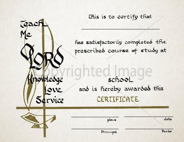 Graduation Certificate - Renovar Designs