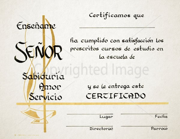 Personalized Spanish Graduation Certificate - Renovar Designs - graduation certificate