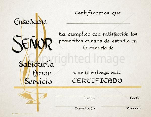 Personalized Spanish Graduation Certificate - Renovar Designs