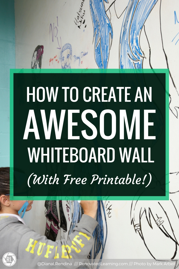 Turn A Wall Into A Whiteboard How To Create An Awesome Whiteboard Wall Renovated Learning