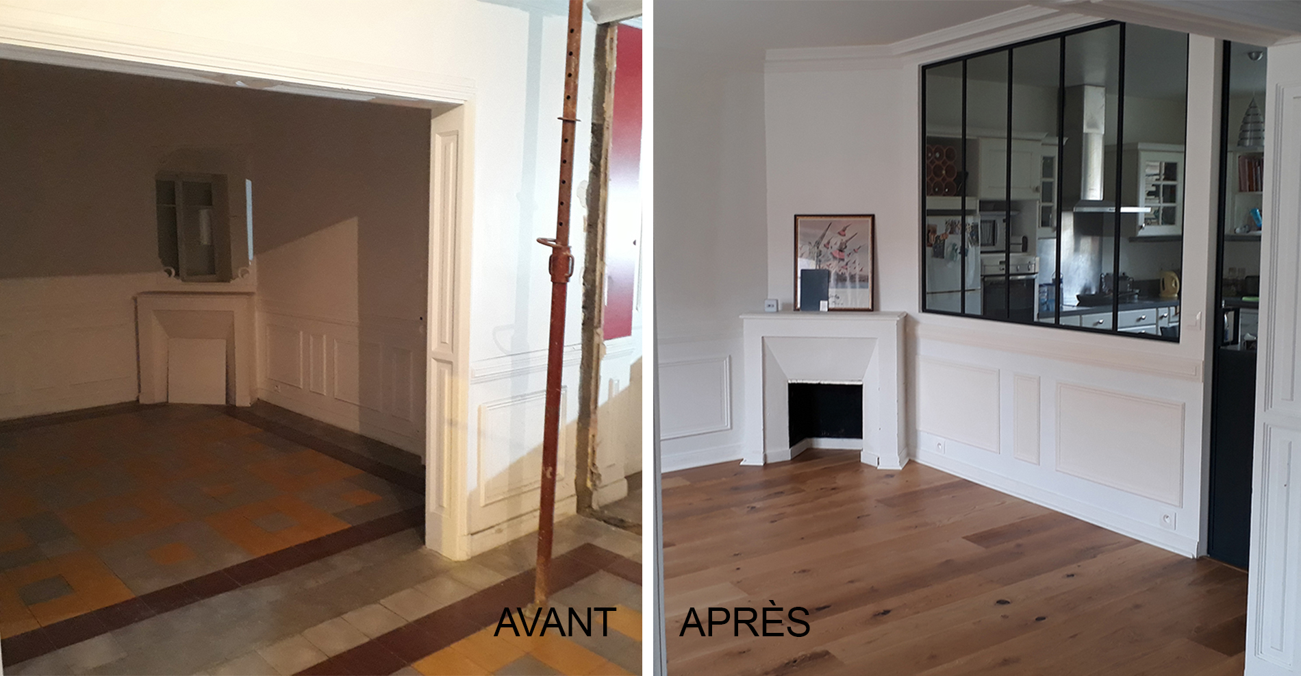 Pose D Une Verriere D Interieur Pose Verriere Good Verriere D Interieur En Bois Verriere