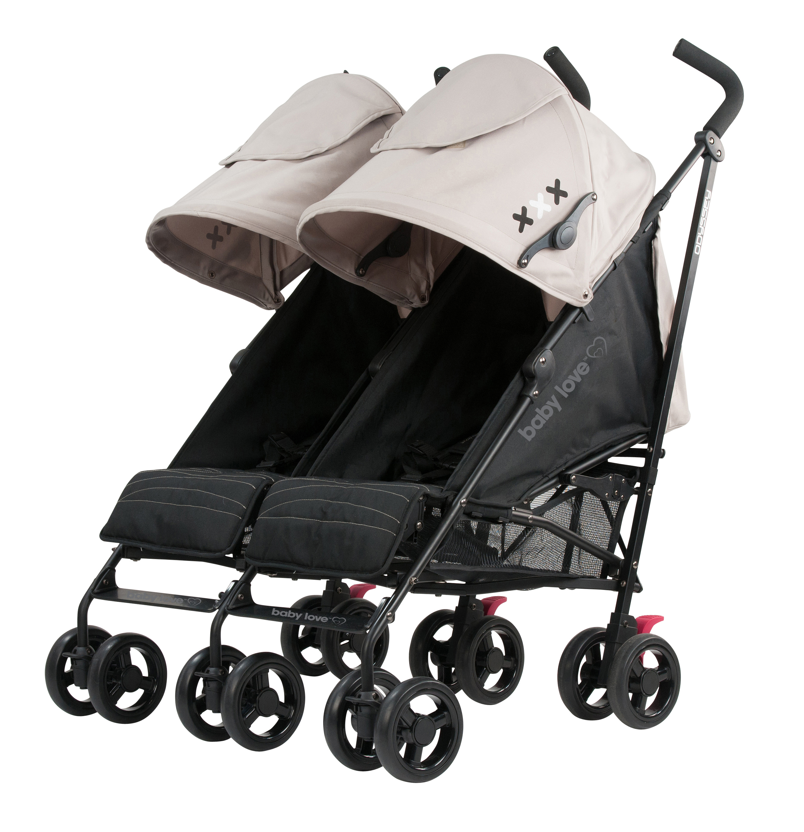 Compact Stroller Nz Babylove Odyssey Twin Stroller Tan