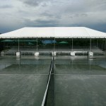 Covered Bleacher rental with Tent