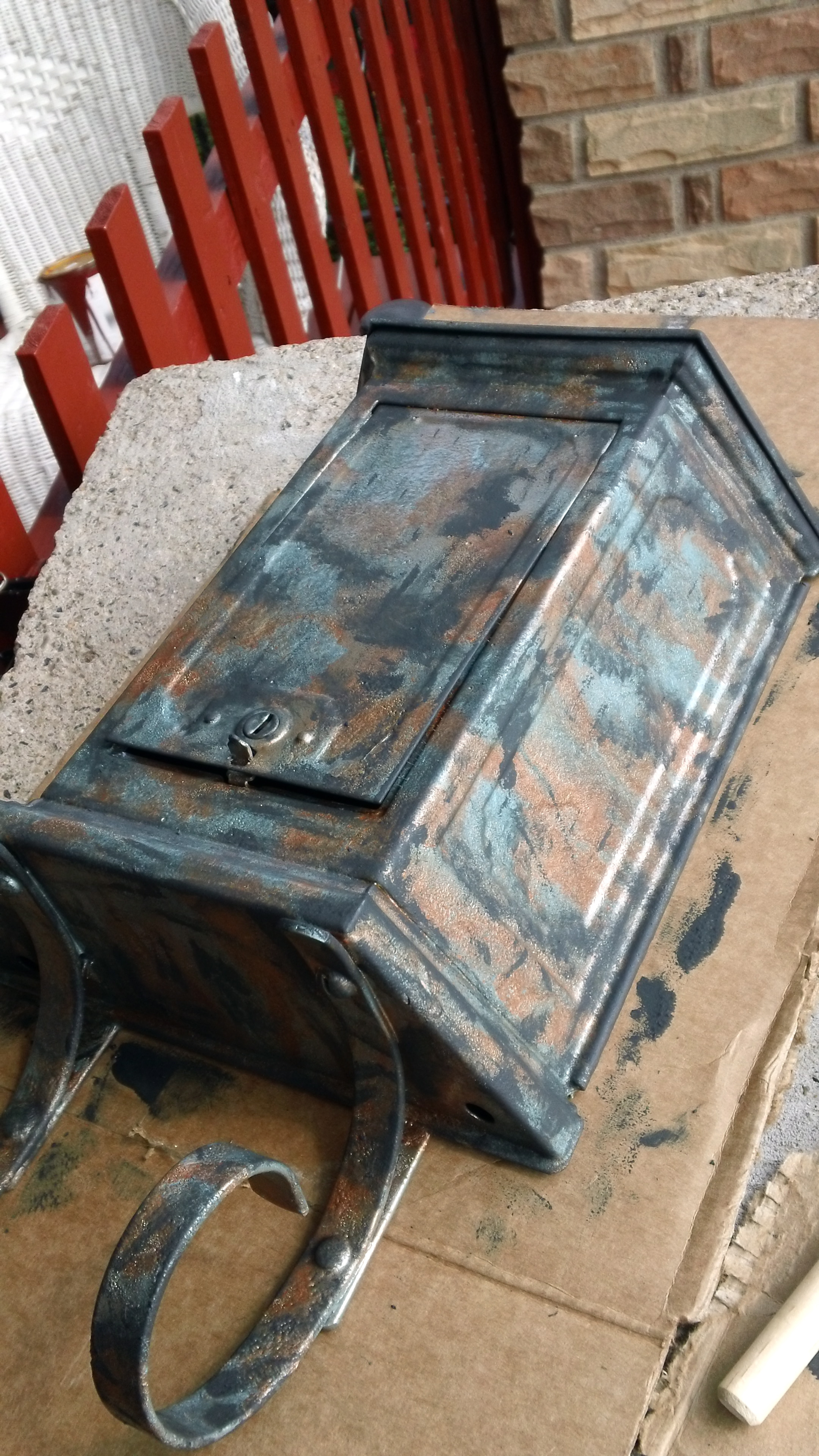 Copper Mailbox Patina Mailbox Makeover Part 2 Paint Ina Rentalhouserules