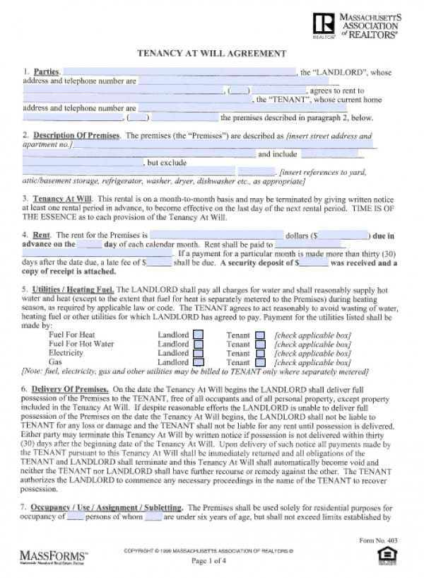 Lease Agreement Contract LeaseAgreementFormsSample Forms For Lease - Free Rent Lease Agreement